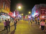 Elliott (wearing a blue vest - on the left) on Beale Street - Saturday night in Memphis, Tennessee