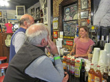 Ken and Elliott (mainly Ken)  schmoozing with Cora our Sun Studio tour guide - Sun Studio in Memphis, Tennessee