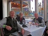 Elliott, Ken and Richard - dinner at the Flight Restaurant and Wine Bar in downtown Memphis, Tennessee