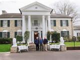 Ken, Elliott and Richard in front of Graceland -  Elvis Presley's home in Memphis, Tennessee