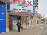 Richard in front of the Stax Museum of American Soul Music