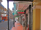 Jerry in front of Felix's Restaurant and Oyster Bar in the French Quarter of New Orleans