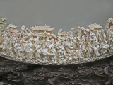 Chinese mammoth ivory tusk carving (18th or 19 century) at the Belz Museum of Asian and Judaic Art in Memphis, Tennessee