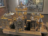 Silver (and gold?) synagogue at the Belz Museum of Asian and Judaic Art in Memphis, Tennessee