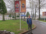 Ken at the entrance to Graceland -  Elvis Presley's home in Memphis, Tennessee
