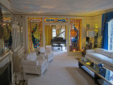 Living room at Graceland -  Elvis Presley's home in Memphis, Tennessee