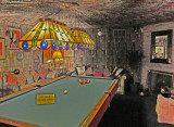 Pool room at Graceland - Elvis Presley's home in Memphis, Tennessee