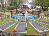 Graves of Elvis Presley and his family at Graceland - Elvis Presley's home in Memphis, Tennessee