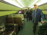 Ken in one of Elvis Presley's customized jets relocated to Graceland - his home in Memphis, Tennessee
