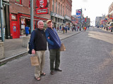 Elliott and Ken on Beale Street in Memphis Tennessee