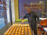 Candy apples being made at Savannah's Candy Kitchen in downtown Nashville, Tennessee
