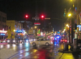 Broadway at night in downtown Nashville, Tennessee