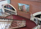 Main stairs in the Ryman Auditorium in downtown Nashville, Tennessee