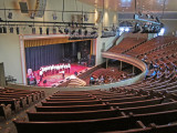 A boys' choir rehearses at the Ryman Auditorium in downtown Nashville, Tennessee