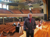 Richard on the stage of the Ryman Auditorium in downtown Nashville, Tennesse