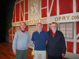 Ken, Elliott and Richard on the stage of the Ryman Auditorium in downtown Nashville, Tennessee