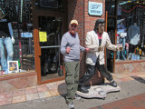 Which one is the better Elvis impersonator? My money is on the guy on the left (Ken) - in downtown Nashville, Tennessee