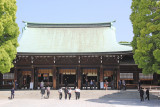 Offering Hall (haiden) - the place for worship at the Meiji Shrine