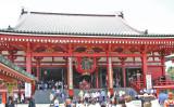 The Main Hall (hondo) of the Senso-ji Temple - Tokyo