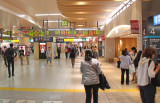 The Ueno Subway Station - returning to the Park Hotel from the Tokyo National Museum and Ueno Park (Judy is on the right side.)