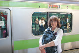 Judy at the Ueno Subway Station - returning to the Park Hotel from the Tokyo National Museum & Ueno Park