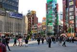 SL Square outside the Hibiya Exit of the Shimbashi Subway Station