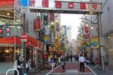 Side street at SL Square outside the Hibiya Exit of the Shimbashi Subway Station