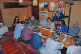 Judy (far left) - a traditional Japanese dinner at Jidaiya - Tokyo