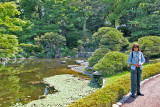 Judy in the East Garden of the Imperial Palace - Tokyo
