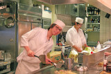 The chefs who prepared our Modanyaki pancakes with noodles - Tokyo