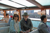 Judy and Richard on a water bus on the Sumida River, Tokyo