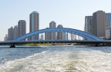The EitaiBashi Bridge on the Sumida River as seen from our water bus, Tokyo