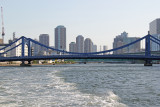 The Kiyosu Bashi Bridge on the Sumida River as seen from our water bus
