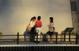 Three women near the banks of the Sumida River - seen from our water bus, Tokyo