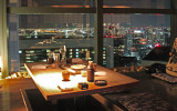Dinner at Washoku EN Shiodome - top floor (42nd) of the Shiodome City Center - fine food & beautiful night views of Tokyo