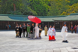 The solemn procession of a Shinto wedding in the courtyard of the Meiji Shrine - Tokyo