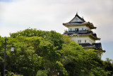 Odawara Castle as seen while traveling from Odawara to Hokane