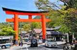 Moto-Hakone with its huge torii (gate) - on the southeastern shore of Lake Ashi