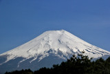 Close-up of Mt. Fuji from the Yamanashi Prefecture Fuji Visitor Center