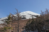 Mt Fuji as seen from the Fuji Subaru Line 5th Station - more than halfway up the side of Mt. Fuji