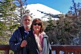 Judy & Richard - Mt. Fuji in the background - at the Fuji Subaru Line 5th Station - more than halfway up the side of Mt. Fuji
