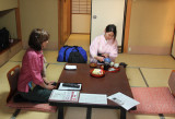 Soon after we arrived in our room at the Nunohan Hotel in Suwa-shi this woman in a kimono came in and served us tea