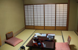 Our bare, attractive room at the Nunohan Hotel in Suwa-shi
