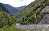A dam and majestic mountains - seen while traveling from Suwa-shi to Takayama
