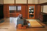 Daidokoro (kitchen) with its cooking area at the Takayama Jinya in Old Town, Takayama