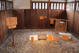 Interrogation room for prisoners who were sometimes tortured severely with objects like those seen here  - at the Takayama Jinya