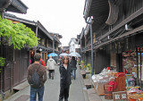 Judy  in the Old Town section of Takayama