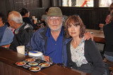 Judy and Richard - lunch in Old Town in Takayama