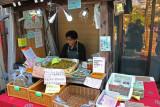 Natural ingredients sold as supplements and/or treatments at the Morning Market next to the Miyagawa River in Takayama