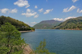 Artificial lake created by the construction of the Miboro Dam - near the two old cherry trees in the previous two photos